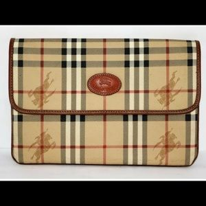 Burberry's vintage haymarket clutch bag